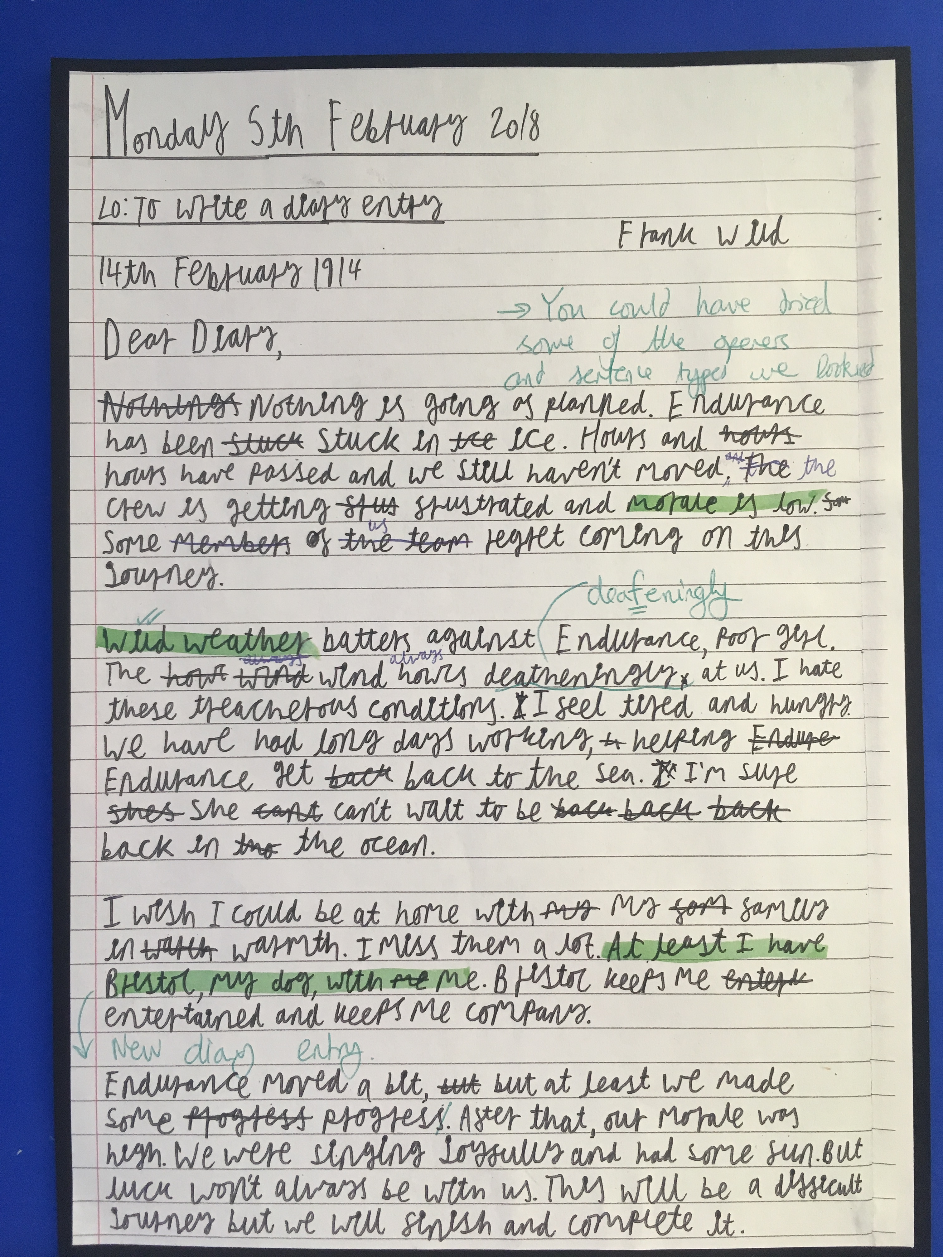 good diary entry examples